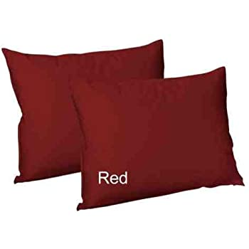 Plain Dyed PolyCotton Housewife Pillow Cases Pair Pack 20 Colours Postage Free