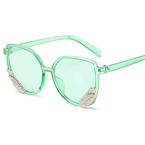 Occhiali da sole occhiali da sole ladies donna cappuccio di usura oversize occhiali classici designer occhiali da sole stile di moda verde oceano (panno sacchetto)