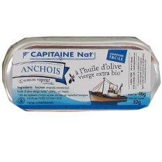 CAP'TAIN NAT ANCHOIS ENTIER HUILE OLIVE 46G Envoi Rapid Et