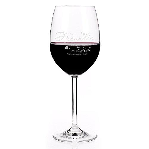 Leonardo Rotweinglas mit graviertem Spruch für die beste Freundin