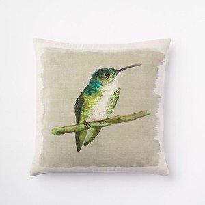 GONIESA West Elm Emerald Hummingbird Silk Pillow Cover,12x12 Inch/30cmx30cm - West Elm-home Decor