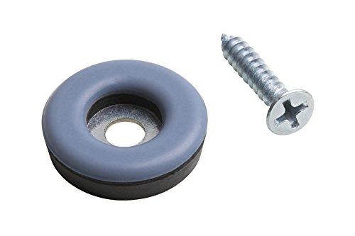 Metafranc Easyglider Ø 22 mm - Mit Schraube - 8 Stück - PTFE Gleitoberfläche - Für ein leichtes Verschieben schwerer Möbel / Universales Möbelgleiter-Set / Teflongleiter / Bodengleiter / 645906 - Fuß-glider