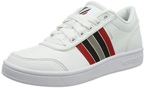 K-Swiss Damen Court Clarkson S Sneaker, Weiß (White/Paloma/Red/Blk 136), 42 EU