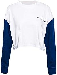 Eur Letras Amazon Ropa Mujer Camisetas 200 es 100 Para 5YzxzOnS1