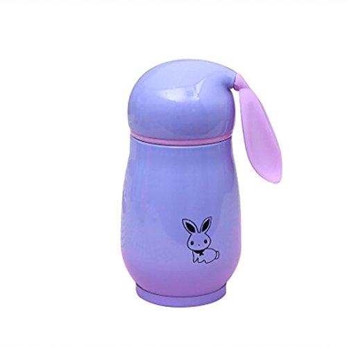 Vakuum Cup, mamum Cute Cartoon Kaninchen Ohr tragbar doppelt Edelstahl - Einheitsgröße violett (Stroh Tassen Für Kleinkinder)