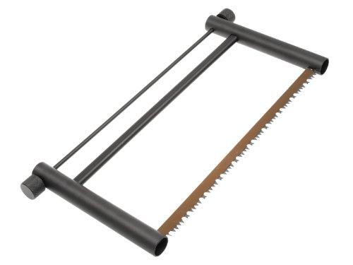 MFH Zerlegbare Outdoorsäge / Spannsäge mit Holzsägeblatt, aus Metall, schwarz eloxiert