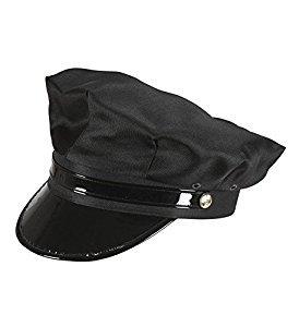 WIDMANN 03608 Chauffeur Hut für Erwachsene, schwarz