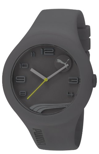 Puma Form X-Large Unisex Quartz Watch with Grey Dial Analogue Display and Grey PU Strap PU103211006