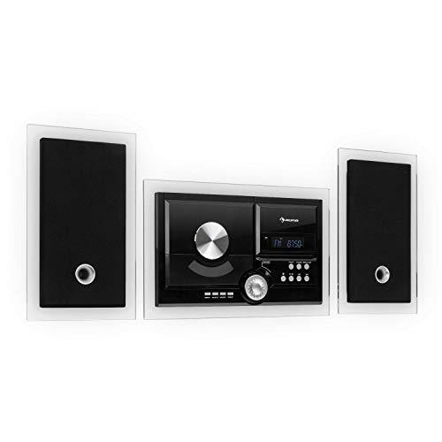 auna Stereosonic Stereo System • Stereoanlage • Kompaktanlage • zur Wandmontage • CD-Player • USB-Port • Bluetooth • AUX-In • inkl. Fernbedienung • schwarz