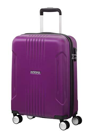 American Tourister Tracklite - Spinner Small Bagaglio a mano, 55 cm, 34 liters, Viola (Purple)