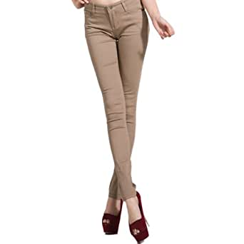 Hee Grand Women Hot Skinny Jeans XS Khaki
