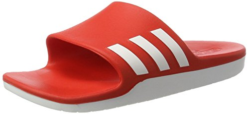 premium selection b66b1 6163f adidas Unisex-Erwachsene Aqualette Cloudfoam Badeschuhe, Rot (Core  RedFootwear White