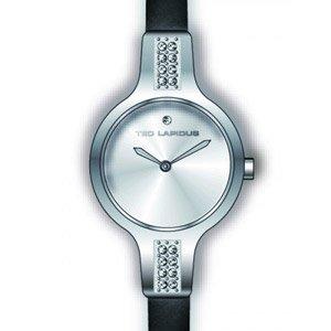 Ted Lapidus A0587ABPN - Reloj analógico de cuarzo para mujer con correa de piel, color negro
