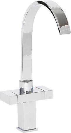 Alliance 13831 Arran Twin Lever Cruciform Kitchen Sink Mixer Tap – Chrome