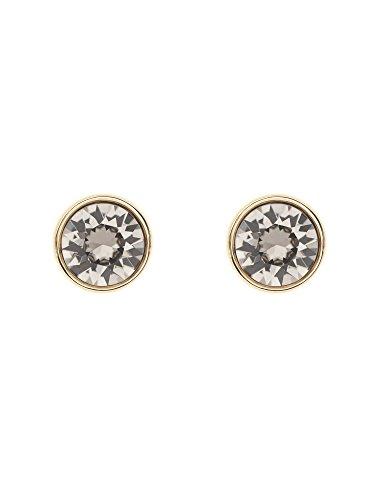 Karen-Millen-Logo-Gold-and-Grey-Stud-Earrings
