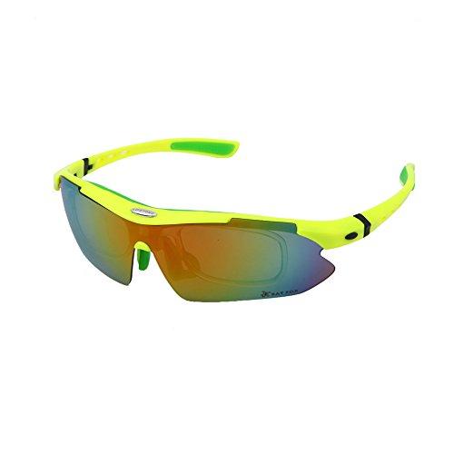 Riding Brillen Polarisierte Licht 5-teilig Kurzsichtigkeit verwendet werden Mountain Bike anti-wind Sand Outdoor Sport Spiegel NEU Shop zu fördern Produkt Qualitätssicherung Verlust von Sales, grün