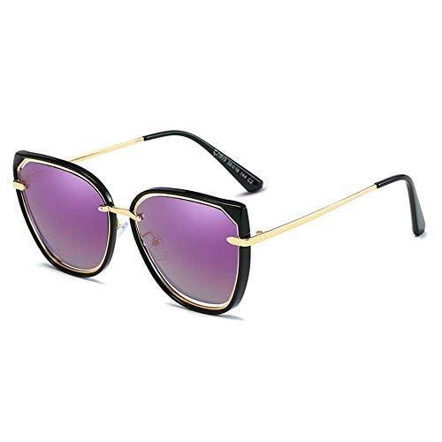 WYJW Sonnenbrille Polarisierte Sonnenbrille Damen Katzenauge Sonnenbrille Hochauflösende transluzente Rahmenbeschattung und UV-Schutz