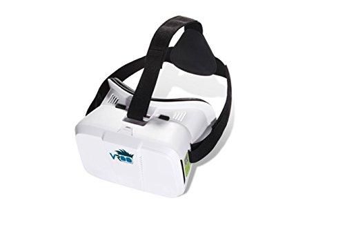 VROO 3D VR Virtual Reality Google Cardboard Headset 3D VR Brille Cardboard für 3D Filme und Spiele / Kompatibel mit Smartphones von 4 bis 6 Zoll / Apple iPhone / Samsung Galaxy / S6 S7 Edge Plus, iphone SE 6 6s Google Pappkarton Oculus Rift Head Mounted Stirnband - 2
