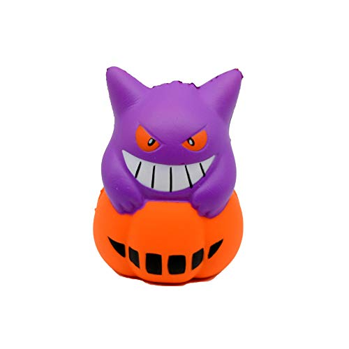 (Happy Event Kawaii Squishy Halloween Cute Pumpkin Devil Stress Reliever Scented Super Slow Rising Kids Squeeze Toys)