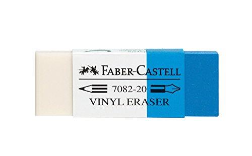 Faber-Castell 188220–Goma de borrar combinado 7082–20, plástico, blanco–azul