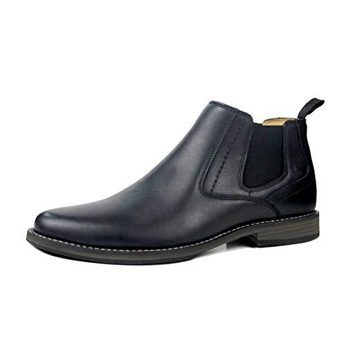 DANDANJIE Herren Stiefeletten Erwachsene Klassische Lederreitstiefel Formale Kleid Schuhe (Farbe : Schwarz, Größe : 42 EU)