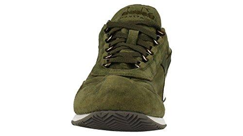 Diadora Equipe Stone Wash 12, Scarpe Low-Top Unisex Adulto Verde chiaro