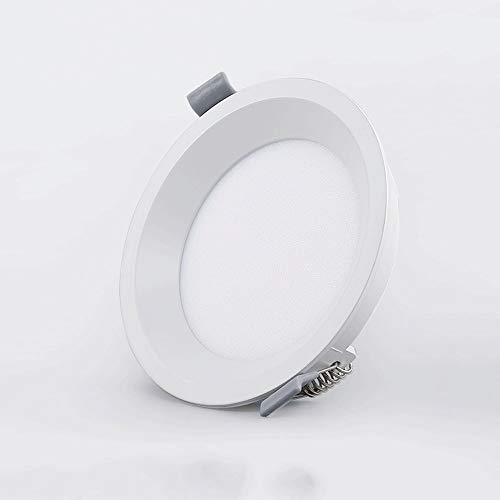 Aluminio blanco Empotrable Parrilla Downlight europea Panel Luces techo Incrustado Antirreflejos Agujero...