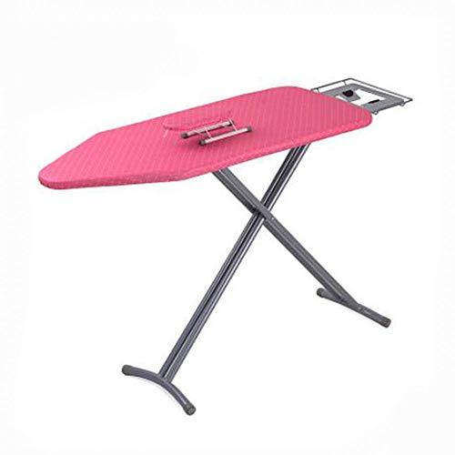 TQ Home Bügelbrett Deckel Und Pad-Silikon Beschichtet Extra Dickes Pad-Vertikale Klapp Bügelbrett Mit Eisen-Rosa (Bügelbrett Pad Dicke Extra)
