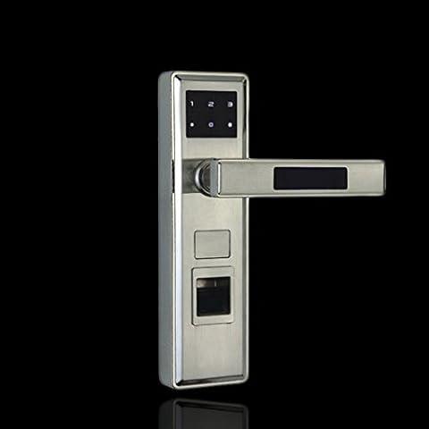 MS Home Fingerabdruck Lock Passwort Sensor Smart Lock Innen Holz Tür Electronic Password Lock Vier–in–One Schloss (Encrypted Disk-)