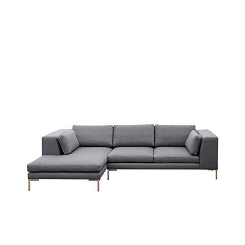 Ecksofa Ocean I Sofagarnitur, Couchgarnitur XXL Sofa BIG Couch inkl. Kissen-set, Sofa Couch Lounge Eckcouch Polsterecke (Seite: links, Inari 91)