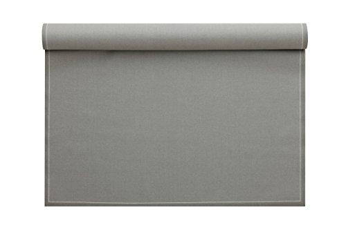 MYdrap Sets de table 48x32cm Tissu/Coton Rouleau de 12 sets de table Gris