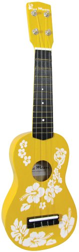 Blue Moon BU-01 Flower Ukulele gelb