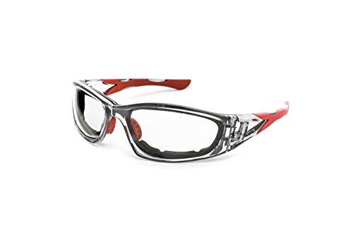 Pegaso 990.08.1005 Gafas de Seguridad Laboral, Gris y Rojo, L