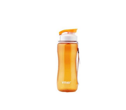 Orange-Wasserflasche 19-Unzen Wasserkaraffe mit String 20.7 * 7cm