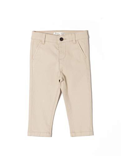 ZIPPY Ztb0401_455_3 Pantalon, Beige 3307, 74 (Taille Fabricant: 9/12M) Bébé garçon