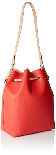 Trussardi 75bp0453, Borsa a Secchiello Donna, 34x33x14 cm (W x H x L) Multicolore (Red/White)