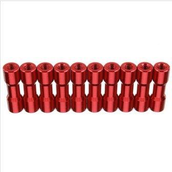 EsportsMJJ M3As11 10St M3 20Mm Aluminiumlegierung Abstandshalter Rundsäulen Multicolor Glatte Oberfläche - Rot -