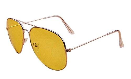 Da.Wa 1 Stück Männer und Frauen Nachtsichtbrille Driver Lens Driver Sonnenbrille Round Face Brille Gelb