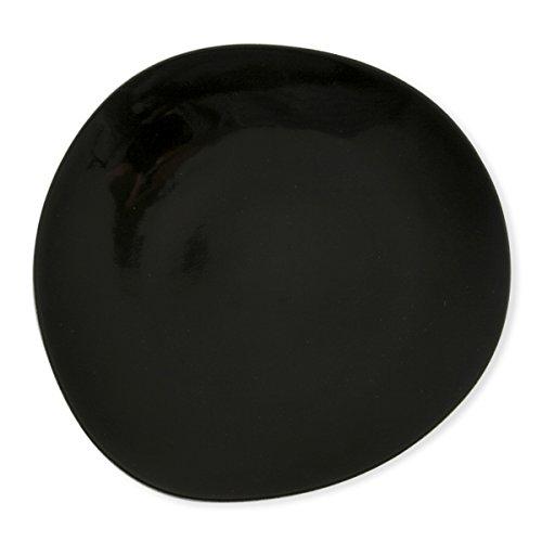 Bruno Evrard Assiette plate noire asymétrique en porcelaine 28cm - Lot de 6 - PILA