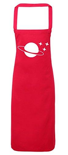 hippowarehouse Planeten und Sterne Schürze Küche Kochen Malerei DIY Einheitsgröße Erwachsene, fuchsia pink, Einheitsgröße (Blast T-shirt Off)