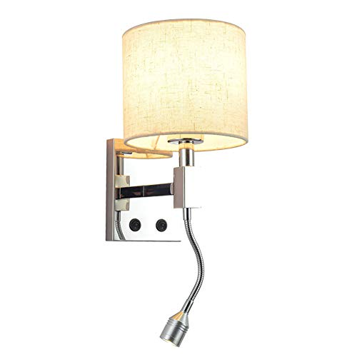 LED Luz de Lectura 3W Moderno Apliques de Pared Ajustable Dormitorio Luz...