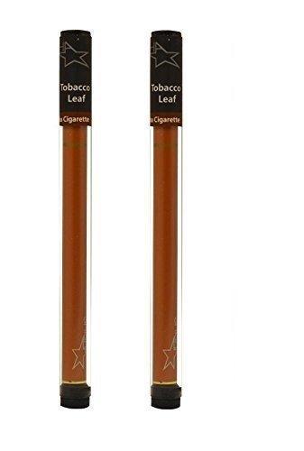 """2x hojas de tabaco """"libre de nicotina"""" aromatizadas 600 dispositivos electrónicos soplados shisha pluma electrónica y pluma de cigarrillo y pluma de cachimba y lápiz de cig y shisha lápiz de estrella Shisha (0% nicotina)"""