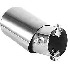 Punta trasera del extremo del tubo del silenciador del escape del coche trasero de 62 mm, Tubo de cola del tubo de escape del tubo de escape del tubo de ...