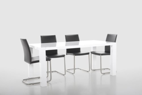 AC Design Furniture Esstisch Aksel, B: 180 x T:90 x H: 75 cm, MDF, Weiss