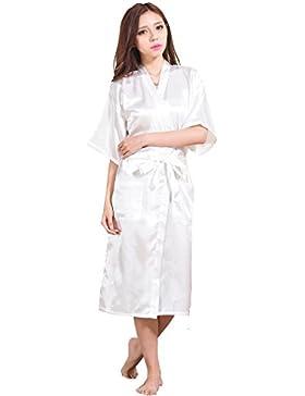 BOYANN Raso Vestaglie e Kimono Lungo Pigiami e Camicie da Notte Allattamento Donna Accappatoi