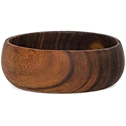 acacia-bol Bowl cuenco decorativo de almacenamiento cesta con ensaladera de madera cuenco 15cm, madera, Rond