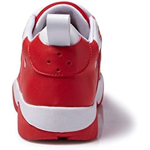 La versione coreana del colore in autunno femminile scarpe sportive/ marea con scarpe low cut merletto/singoli pattini