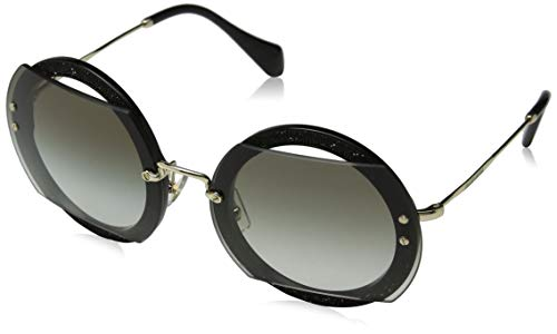 Miu Miu Damen 0MU06SS 1AB0A7 63 Sonnenbrille, Schwarz (Black/Grey)