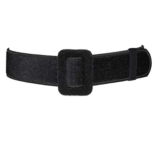 Jinyangjinyang donna decorativa larga cintura semplice cintura con fibbia squadrata centinaia-nero unica