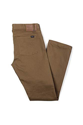 Brixton Herren Pant RESERVE 5 Pocket  Dark Khaki,36 Pocket Bottoms Jeans